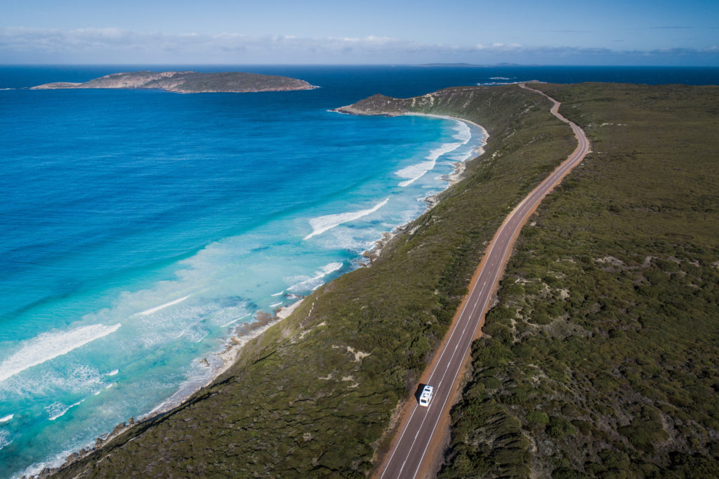 Coral Coast Highway also known as Great Ocean Drive, west of Esperance
