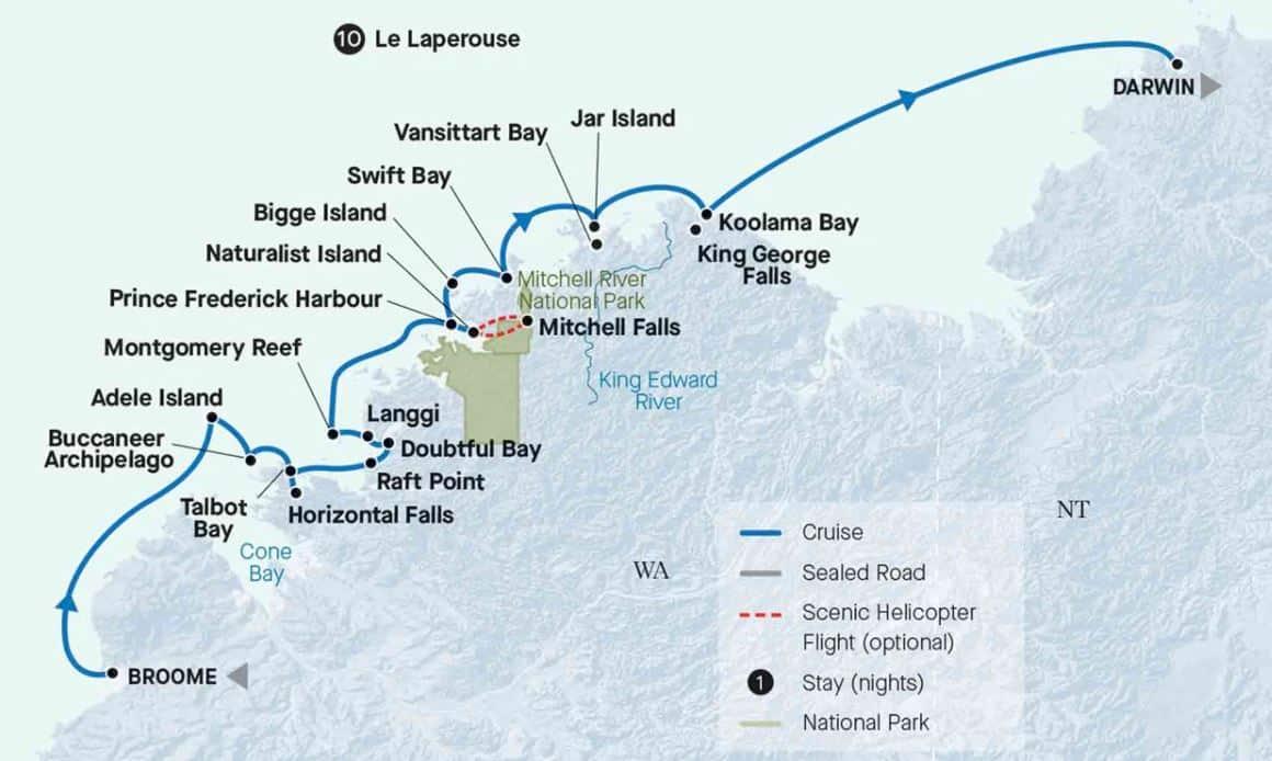 11 Day Kimberley Coast MAP